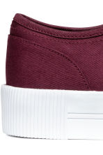 Platform trainers - Burgundy - Ladies | H&M 4